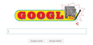 Google Doodle für 40 Jahre Yps-Magazin