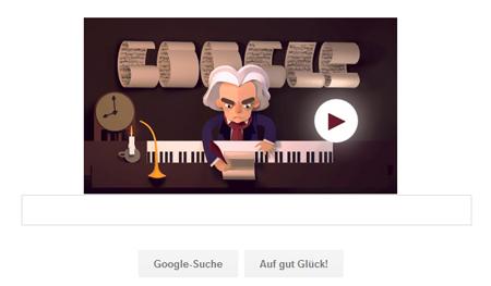 Google Doodle für Ludwig van Beethoven