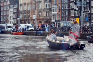 Amsterdam: Rushhour am Wochenende auf dem Wasser