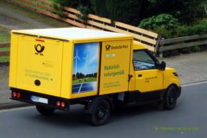 Naturgemäße Elektrofahrzeuge, laut Aufdruck