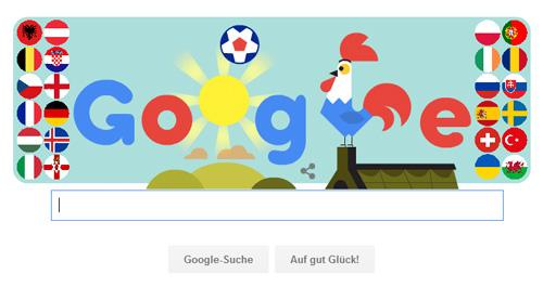 Google Doodle zur Fußball-EM 2016