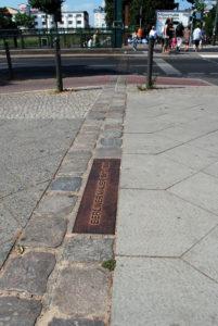 Verlauf der Berliner Mauer in der Bernauer Straße