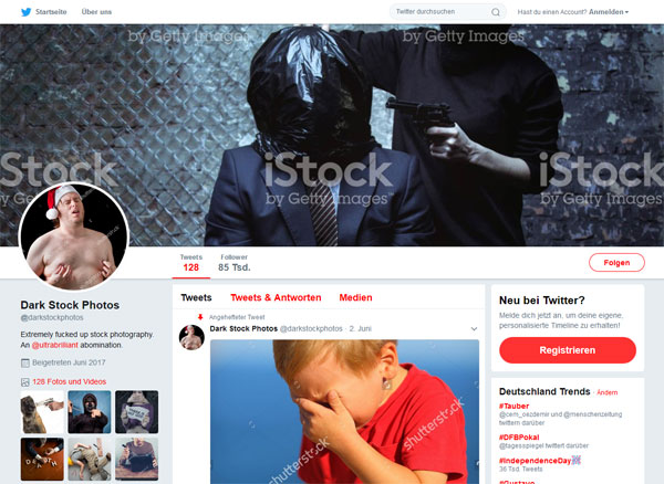 Screenshot: Twitter-Account Dark Stock Fotos