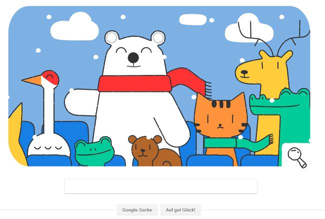 Google Doodle zu den Olympischen Winterspielen 2018