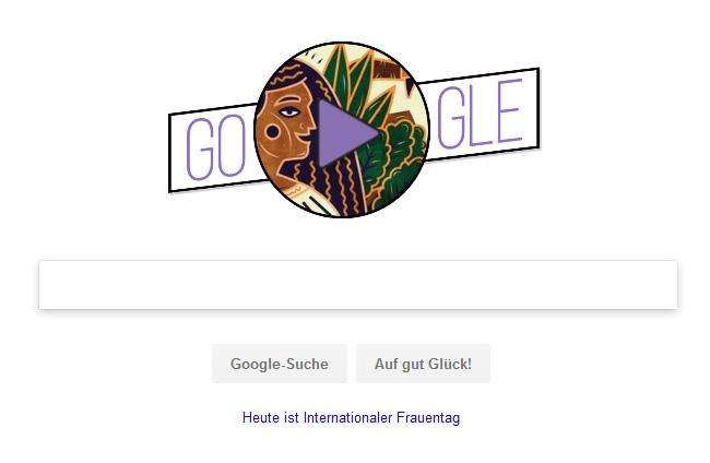 Google Doodle zum Weltfrauentag 2018