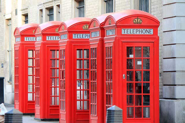 Telefon-Zellen in London | Foto: Giuliamar, pixabay.com, CC0 Creative Commons