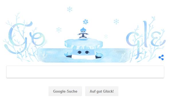 Screenshot: Google Doodle zum Winteranfang 2018