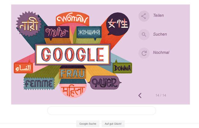 Google Doodle zum Frauentag