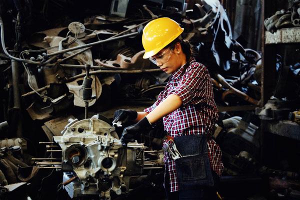 Industrie-Arbeiterin | Foto: pexels.com, Pexels License