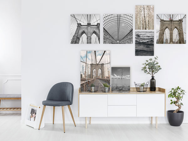 Foto-Leinwand im Wohnraum