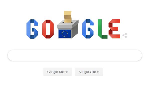 Google Doodle zur Europawahl