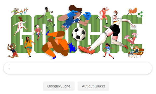 Google Doodle zur Fußball-WM der Frauen