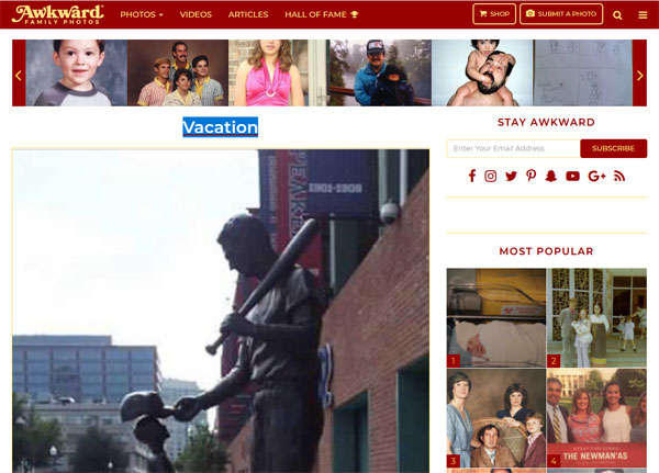 Peinliche Urlaubsfotos | Screenshot von awkwardfamilyphotos.com
