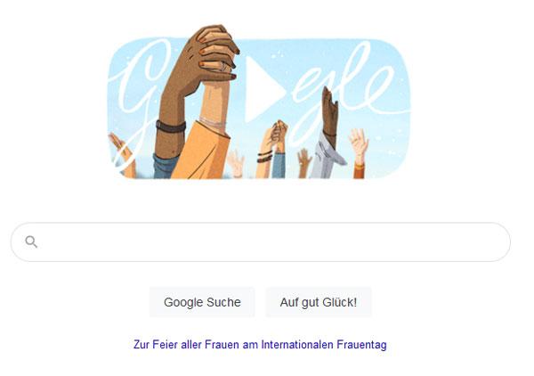 Google Doodle zum Frauentag | Screenshot