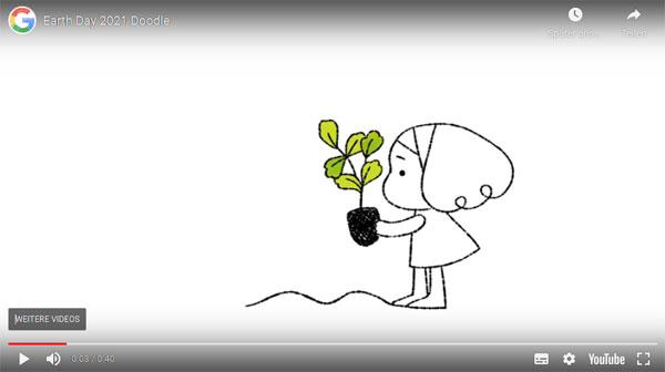 Screenshot: Google Video zum Earth Day