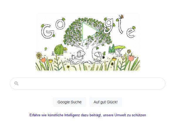 Screenshot: Google Doodle zum Earth Day