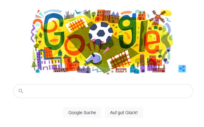 Screenshot: Google Doodle zur EM 2020